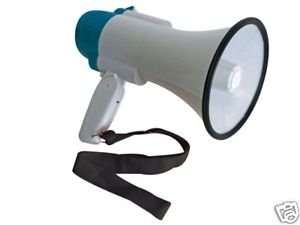 Veka - Megáfono con sirena (10 W, volumen regulable)