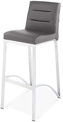 Zuri Furniture Lynx Bar Stool with Metal Base - Slate