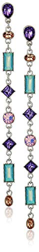 GUESS Women's Post Drop Earrings with Stones, Silver, One -