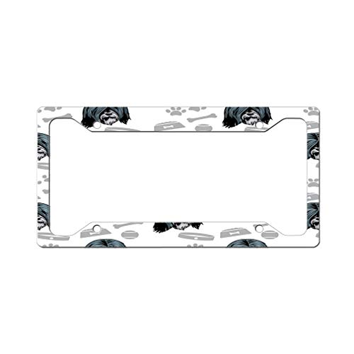 Style In Print Custom License Plate Frame Tibetan Terrier Dog Aluminum Cute Car Accessories Wide Top Design Only Set of 2