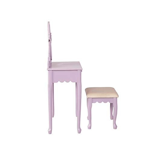 Linon Everly Lilac Youth Vanity Set