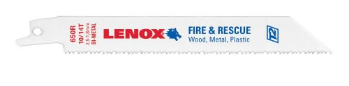 (LENOX Tools General Purpose Reciprocating Saw Blade with Power Blast Technology, Bi-Metal, 6-inch, 10/14 TPI, 25/PK)