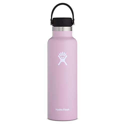 Hydro Flask Standard Mouth Water Bottle, Flex Cap - 21 oz, Lilac (Lilac Standard)