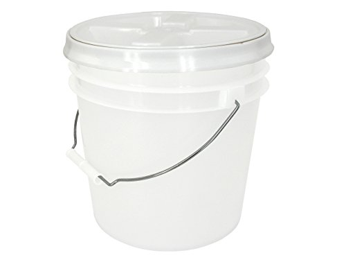 API Kirk Natural 2 Gallon Bucket with Gasketed Lid (White(Gamma), 1)