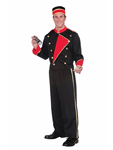 Forum Novelties Vintage Hollywood Movie Usher Costume, Black/Red, Standard]()