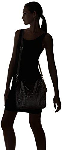 Lollipops Alix Velvet Bucket Shopper - Borse a spalla Donna, Noir (Black), 20x30x38 cm (W x H L)