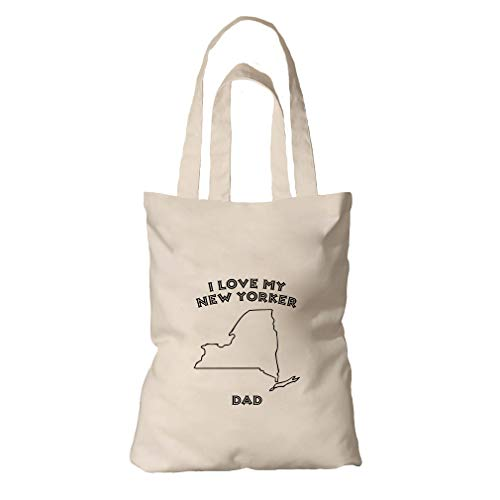(I Love My New Yorker Dad NY Organic Cotton Tote Bag Tote)