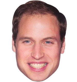 Kate And William Costume (Partyrama Prince William Celebrity Cardboard Mask - Single)