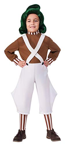 Rubie's Costume Kids Willy Wonka & The Chocolate Factory Oompa Loompa Value Costume, Medium (Real Willy Wonka And The Chocolate Factory)