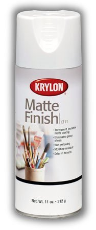 Krylon Matte Finish Spray Eliminates Glossy Sheen and Provides Permanent Surface Protection (Pkg/3) by Krylon