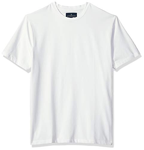 - BUTTONED DOWN Men's Short-Sleeve Crew Neck Supima Cotton Stretch T-Shirt, White, Small