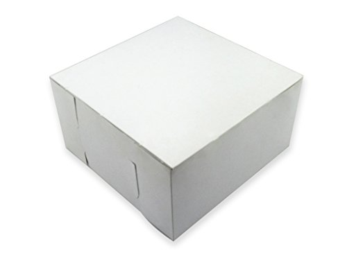 W PACKAGING WPLC16166WK 16x16x6 White/Kraft Plain Cake Box,