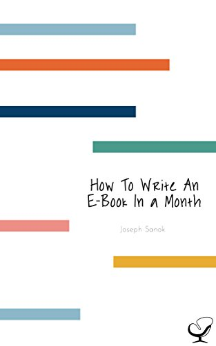 How To Write An E Book In A Month