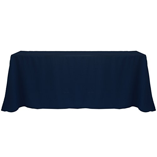 Ultimate Textile (2 Pack) 108 x 156-Inch Rectangular Polyester Linen Tablecloth with Rounded Corners - for Wedding, Restaurant or Banquet use, Midnight by Ultimate Textile