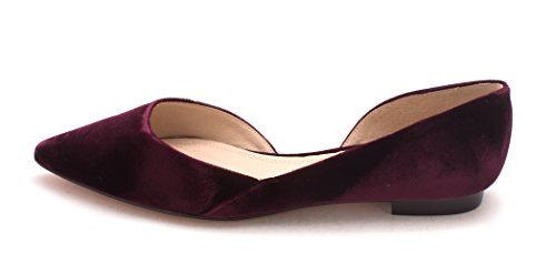 Womens Ballet Toe Marc Flats red Sunny Fisher Medium Pointed IqXw6X5r