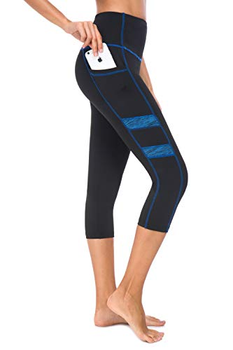(Zinmore Women's High Waist Yoga Pants Exercise Pants Gym Active Tights Workout Leggings Yoga Capris Leggings (Small,)