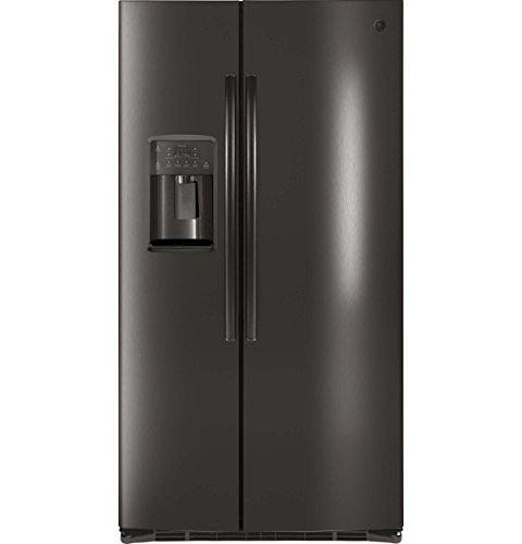 GE 25.3 cu. ft. Side by Side Refrigerator in Black Stainless Steel, Fingerprint Resistant and ENERGY STAR