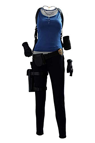 Adult Womens Jill Valentine Remake Cosplay Costume Halloween Evil Full Set Outfits