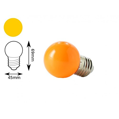 Jandei - Bombilla LED color Naranja E27 1W interior decorativa: Amazon.es: Iluminación