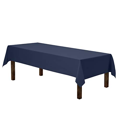 Gee Di Moda Rectangle Tablecloth  60 x 102quot Inch  Navy Blue Rectangular Table Cloth for 6 Foot Table in Washable Polyester  Great for Buffet Table Parties Holiday Dinner Wedding amp More