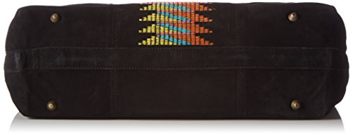 Liebeskind Berlin Chelsea Embroidery/Suede Leather - Shopper Mujer Negro - negro (negro 9999)
