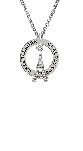 AB Crystal Eiffel Tower - Cheerleader Affirmation Ring Necklace