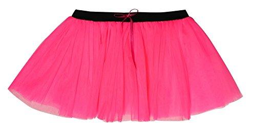 Pink Color De Tutú 3 Fluorescente Uv Capas Hot Neón vtz8dxqz