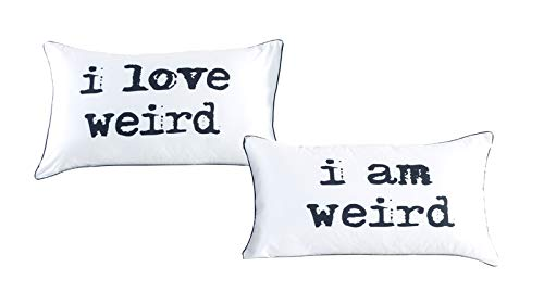 I love weird and I am weird couples pillowcase set,Romantic Gift Idea for Couples Christmas, Valentines Day, Anniversary, Wedding, Engagement, for Him and Her in Love