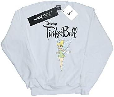 Disney Herren Tinker Bell Flying Tink Sweatshirt Weiß XXX-Large