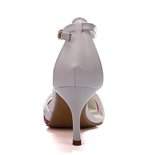 Allhqfashion - Donna - Sandali Con Tacco In Pelle Martellata Con Punta A Punta In Pelle Di Mucca Con Colori Assortiti