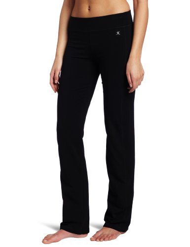Danskin Women's Sleek Fit Yoga Pant, Black, Large Danskin Womens Yoga Pant