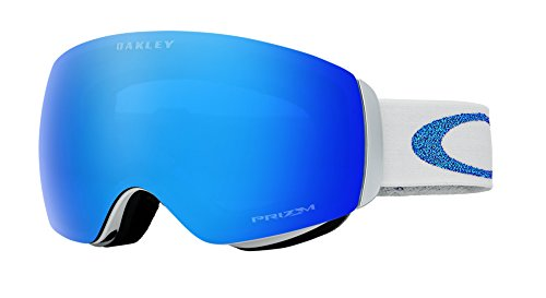 Oakley Women's Flight Deck XM Snow Goggles, White, Prizm Black Iridium, Medium (Flight Deck Helmet)