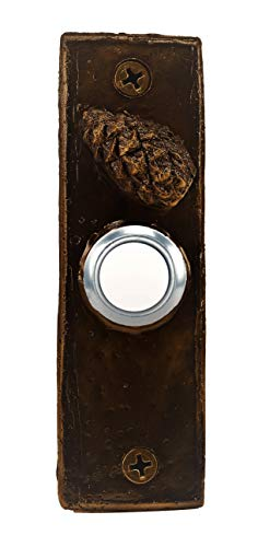 (TimberBronze53 F-DRBELL-SLMCC-T Slim with Closed Lodgepole Pine Cone Doorbell Button, Traditional)