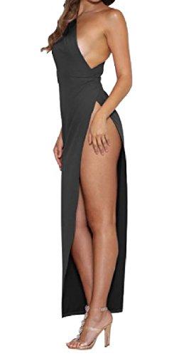 Coolred-femmes Robe Sexy Cocktail Fête D'été De L'épaule Irrégulière Incliné Noir