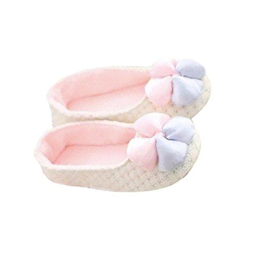 Elevin (tm) Nuevas Mujeres Embarazadas Zapatillas De Casa Empalmadas Zapatos De Invierno Cálido Zapatos De Yoga Blanco