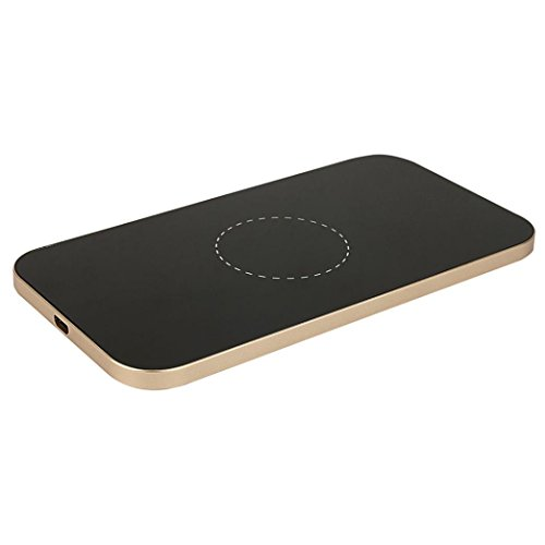 Wireless Charger,Elevin(TM) Fast Ultra-thin Aluminium Alloy Qi Wireless Charger Charging Pad Magnetic Stand for Samsung S7/S7 Edge (Gold) by Elevin(TM)