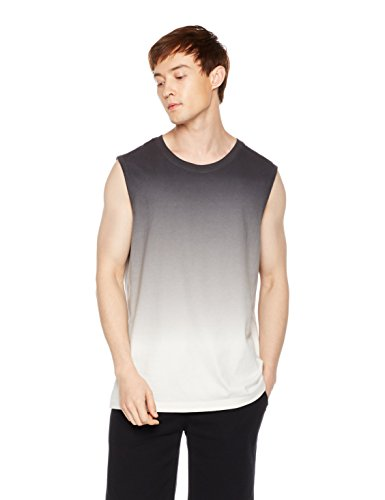 Something for Everyone Men's Sleeveless Dip Dye Crewneck T-Shirt Large (Dip Dye Crew Tee)