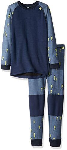 Helly Hansen Kids LIFA Merino Wool Warm Baselayer Set Top and Bottom, 701 Vintage Indigo, Size 1