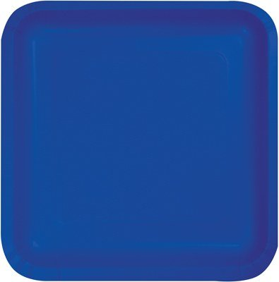 Cobalt Luncheon Plate - Club Pack of 180 Decorative Cobalt Blue Disposable Paper Party Luncheon Plates 7