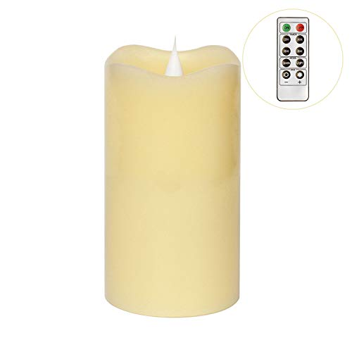 3D Moving Flame Led Candle With Timer, Pillar Flamless Candle for Christmas Decoration, 3x5 Inch, - Decorations Christmas 3d