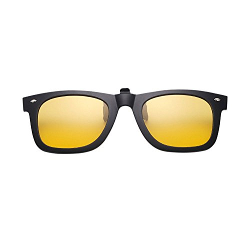 Up Givré Femme Clip Jaune Lunettes Miroité Pour de Sunglasses Cadre Hzjundasi Eyewear Homme Anti On Soleil Flip Rectangle Polarisées éblouissement UV400 0CAqqwdn