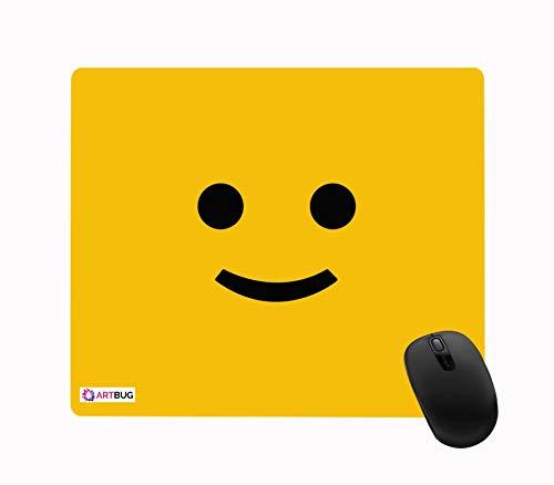 ARTBUG™ Smiley Printed Premium Designer Mouse Pad for Computer/Laptop (22.5cm x 19cm) – 398