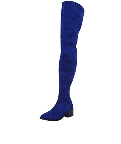 Inuovo Mujeres High Rebeca Thigh Boots Marina De Guerra Marina De Guerra
