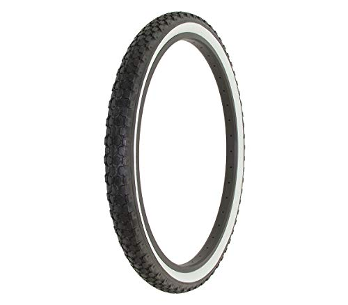 - Alta Bicycle Tire Duro 26 x 2.125 Color Bike Tire Knobby Style Pattern (Black/White Wall)
