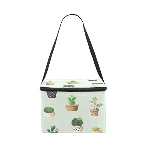 D.Sword Potted Plant Lunch Bags for Women Men Kids Adult Boys Girls,Reusable Neoprene Insulated Lunch Bag Cooler Bag with Hand Strap,Bento Bag Lunch Box Handbag Easy Carry to Shool Office ()