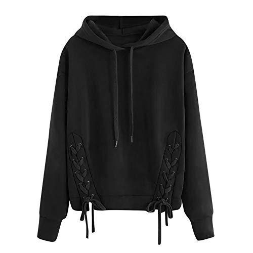 (Rambling New Women's Hoodies Braided Sweatshirt, Casual Long Sleeve Pullover Blouse Shirts)