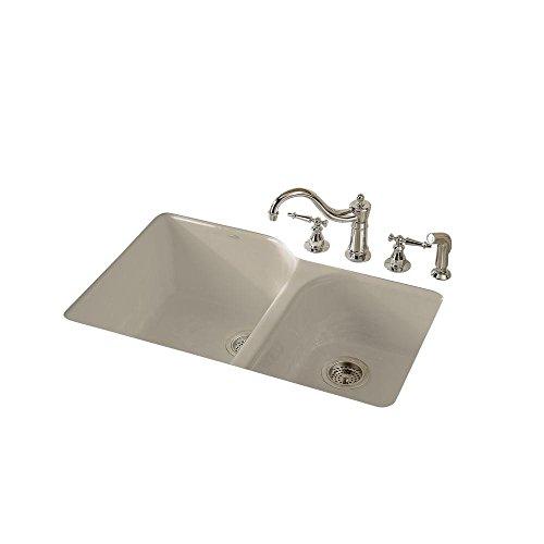 KOHLER K-5931-4U-G9 Executive Chef Undercounter Kitchen Sink, Sandbar (Kitchen Sandbar Sink G9)