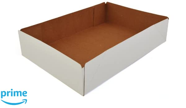 Amazon.com: Southern Champion Tray 1215 Clay Coated Kraft Paperboard White One Piece Donut Tray, 13-1/2