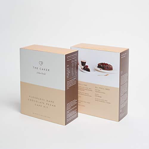 Flourless Dark Chocolate Pecan Cake Mix - Includes Cake Mix, Pecans and 200g Belgian Chocolate Pieces, Naturally Gluten Free