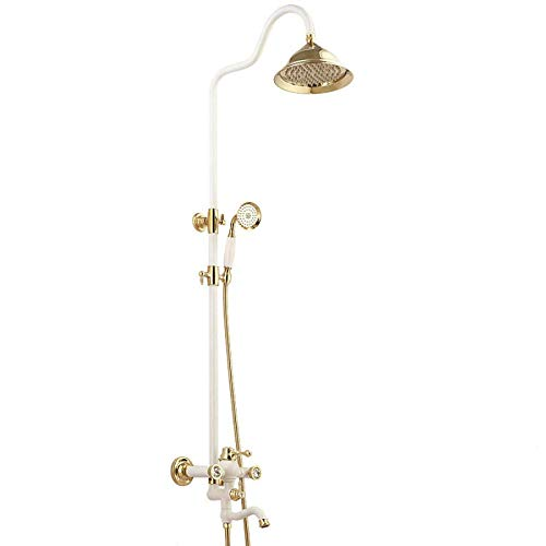 (Rainfall Shower Mixer Faucet Bath Shower Set Single Handle with Handshower)
